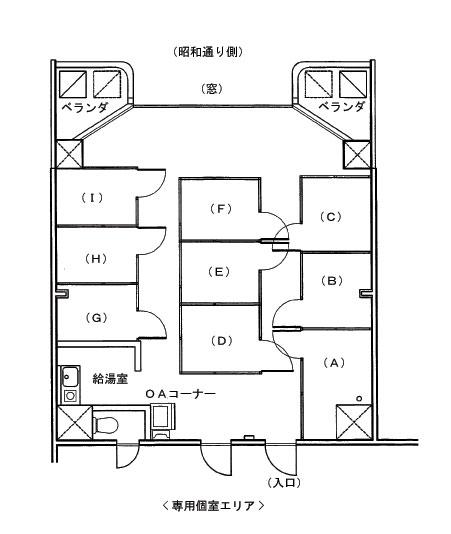 レンタルオフィス東京・銀座 見取り図